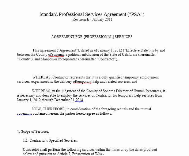 Professional Services Agreement Template Luxury Professional Services Agreement Templates 24 Free