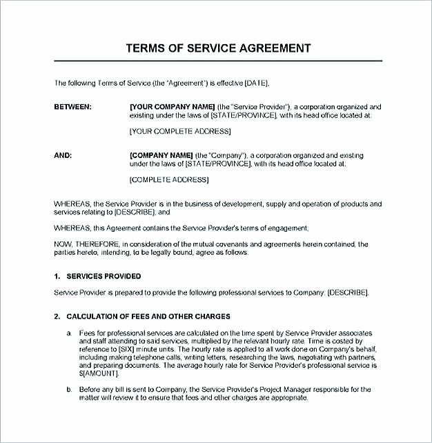 Professional Services Agreement Template Unique Simple Professional Services Agreement Detail Service