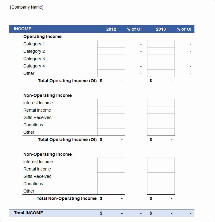Profit and Loss Template Free Luxury 11 Profit and Loss Statements Word Pdf Google Docs