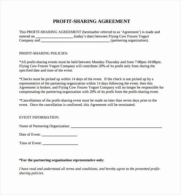 Profit Sharing Plan Template Best Of 30 Profit Sharing Plan Template