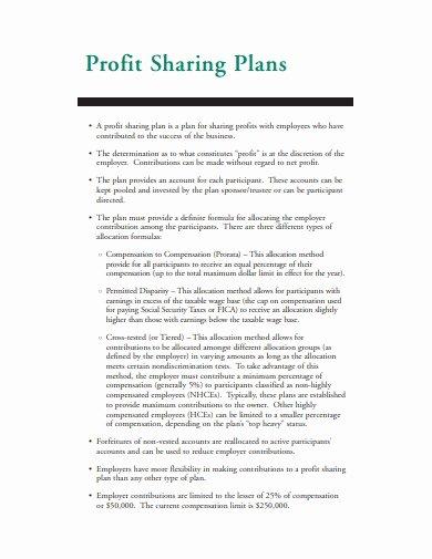 Profit Sharing Plan Template Inspirational 13 Profit Sharing Plan Templates Google Docs Pdf Doc