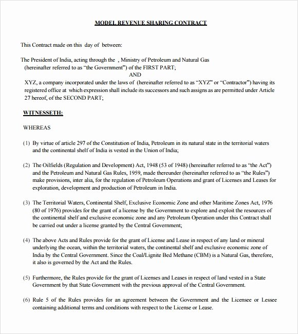 Profit Sharing Plan Template New Profit Sharing Agreement – 9 Free Samples Examples format