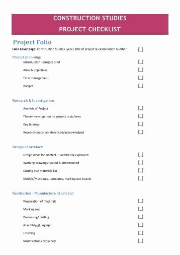 Project Closeout Checklist Template Fresh Aba Construction Project Close Out Checklist