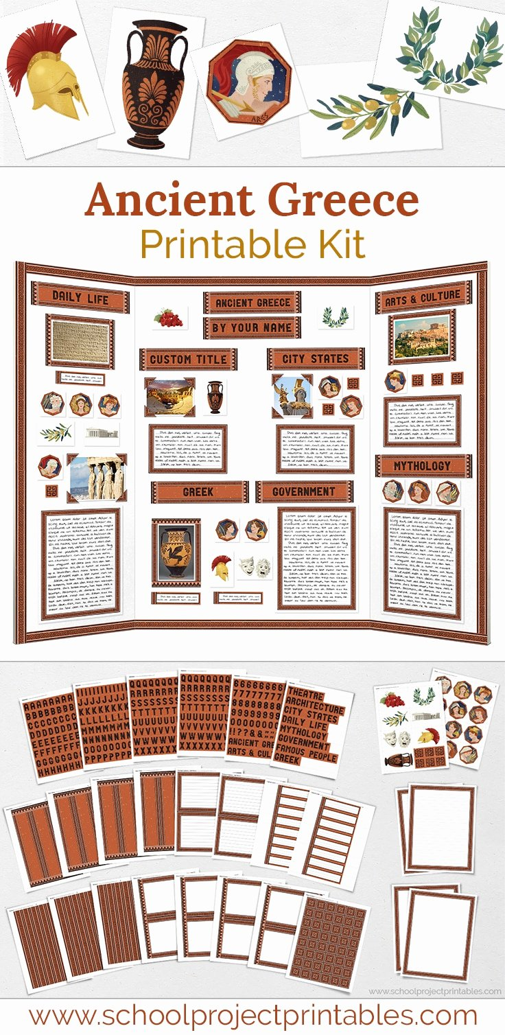 Project Closeout Checklist Template Lovely Ancient Greece Project Kit School Project Printables