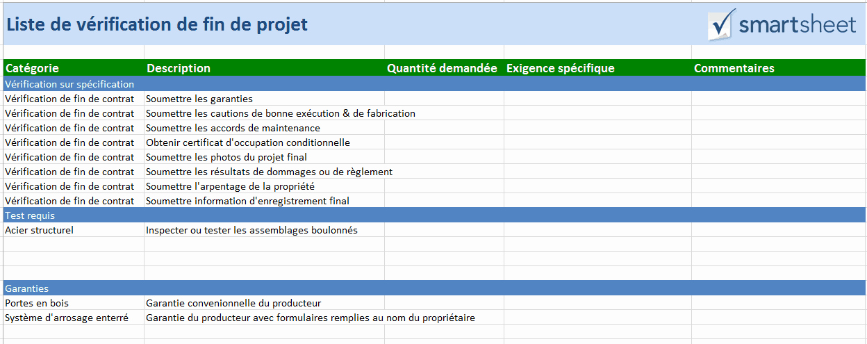 Project Closeout Checklist Template Lovely Modèles Gratuits De Gestion De Construction Pour Excel