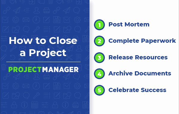 Project Closeout Checklist Template Unique 5 Steps to Project Closure