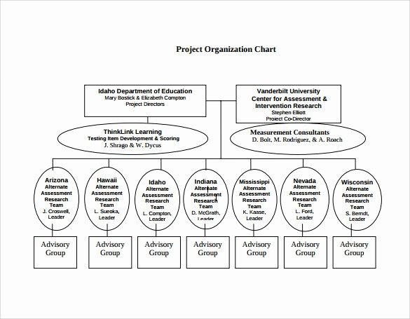 Project organization Chart Template Beautiful Sample Project organization Chart 14 Free Documents In