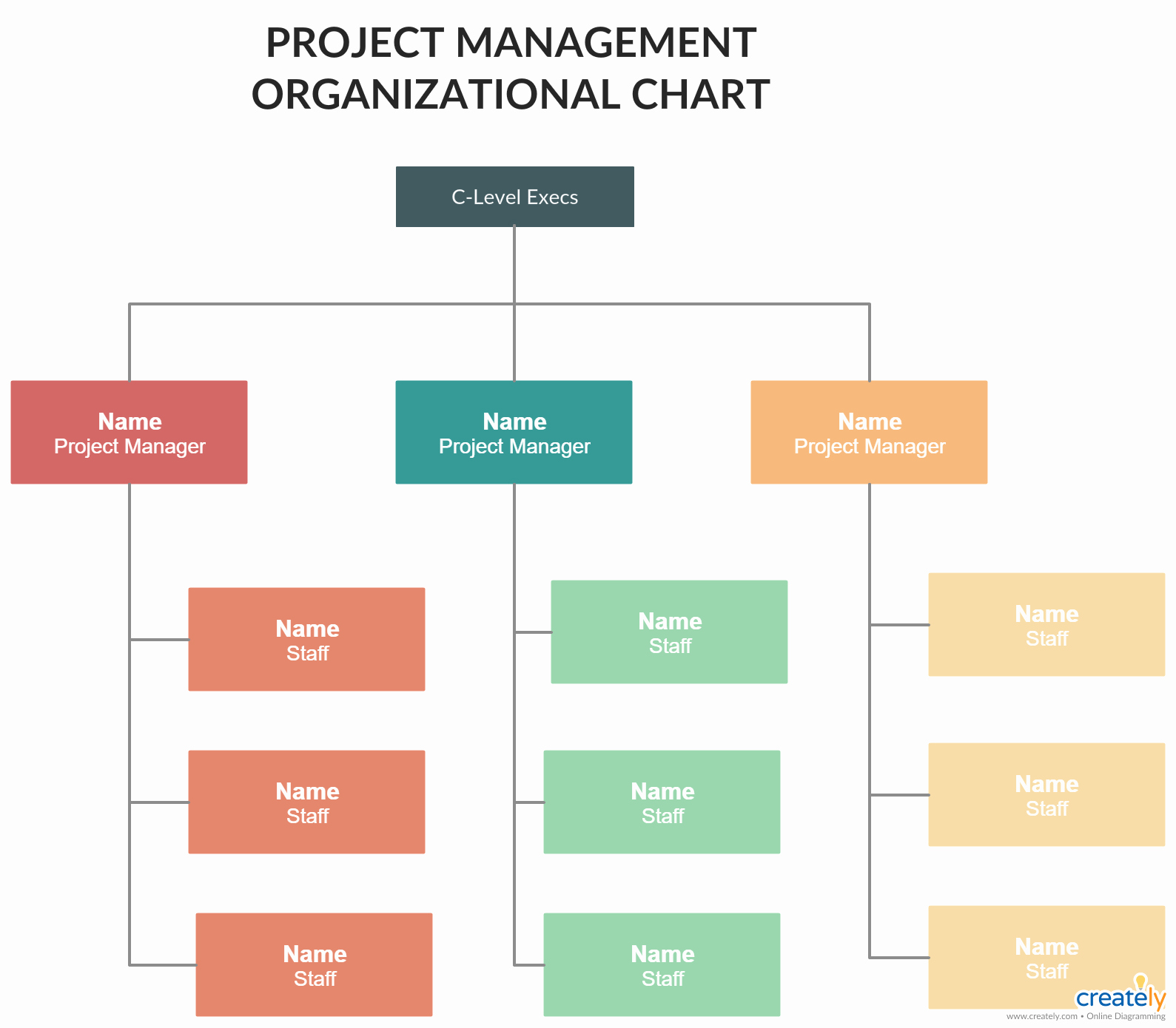Project organization Chart Template Best Of Project Management organizational Structures You Can