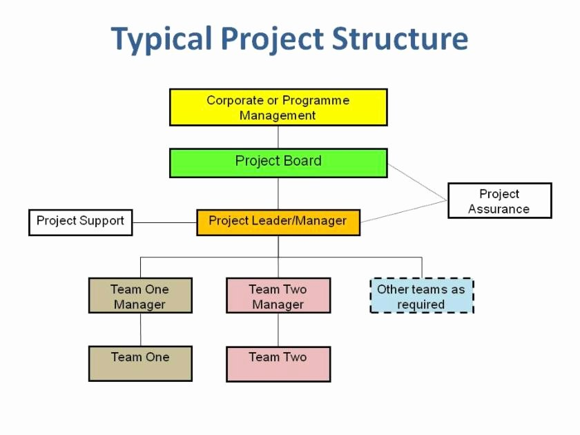 Project organization Chart Template Fresh Project Governance Easy Project Management