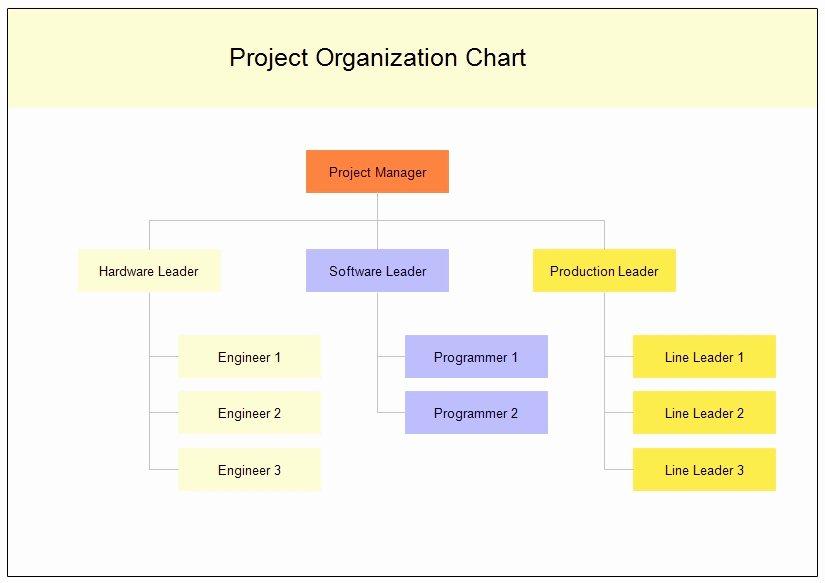 Project organization Chart Template Unique Project organizational Chart Template