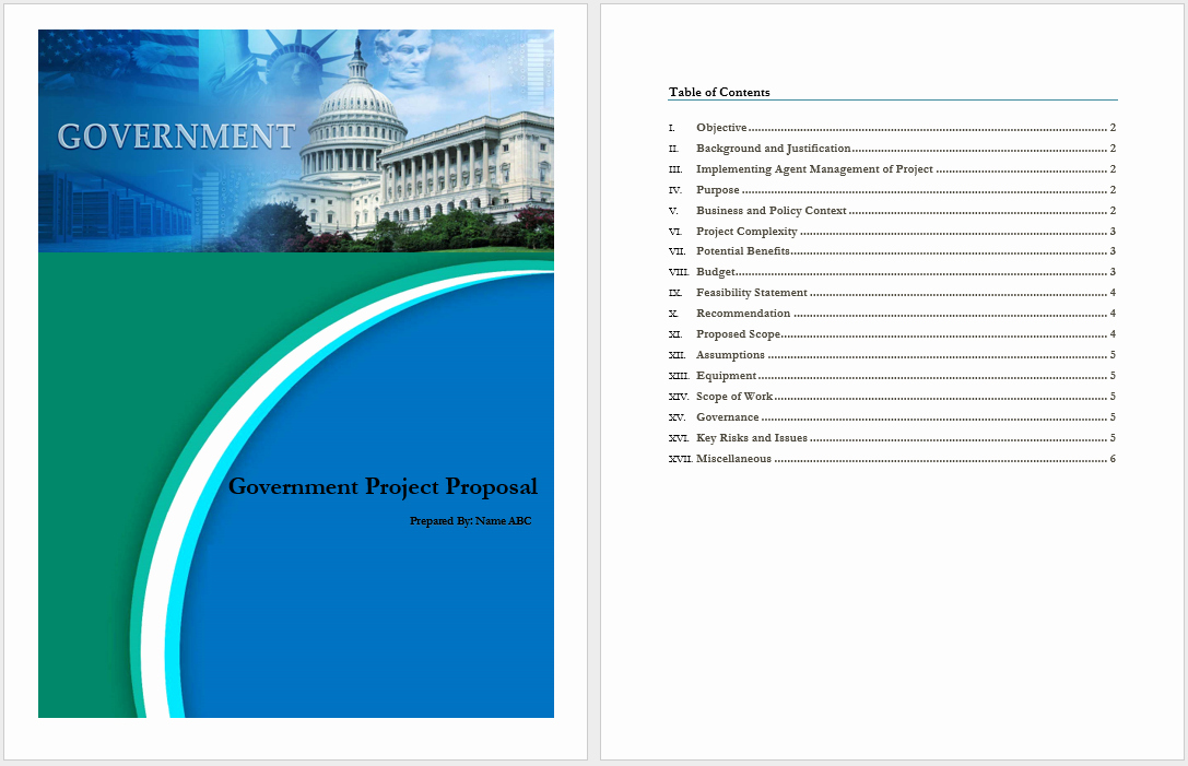 Project Proposal Template Word Beautiful Government Project Proposal Template Word Templates