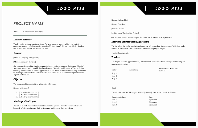 Project Proposal Template Word Inspirational Project Proposal Templates for Ms Word
