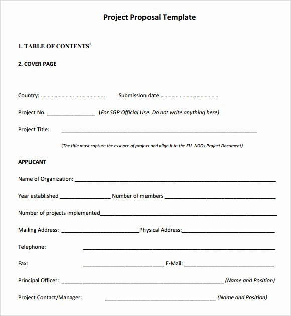 Project Proposal Template Word Unique Free 9 Sample Project Outline Templates In Pdf Word