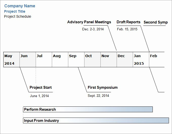 Project Timeline Template Word Elegant Project Timeline Templates 6 Free Word Ppt format