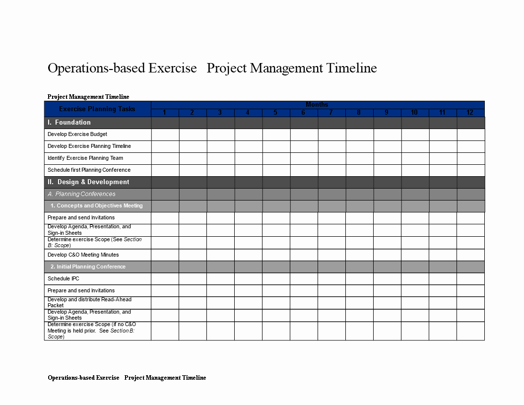 Project Timeline Template Word Inspirational Project Management Timeline Word