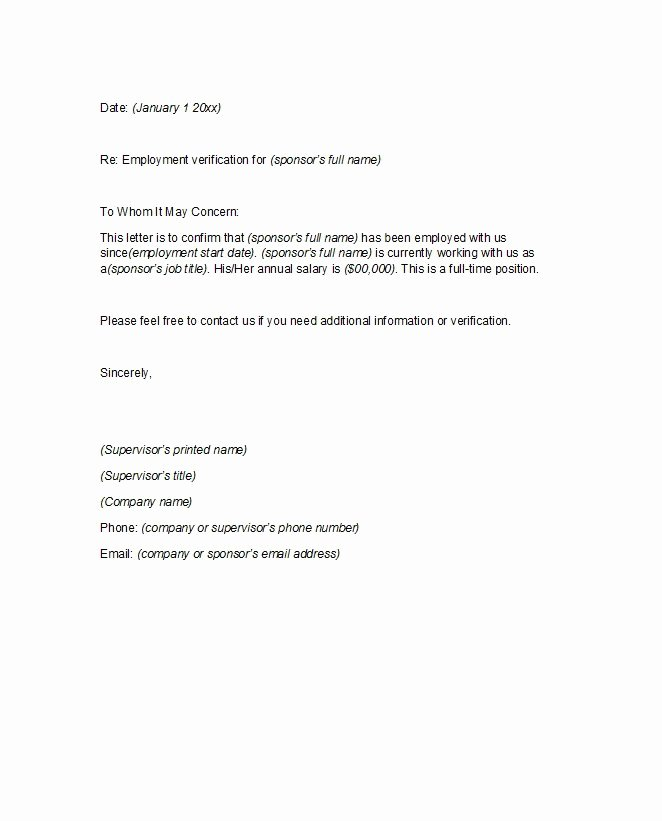 Proof Of Employment Letter Template New 40 Proof Of Employment Letters Verification forms
