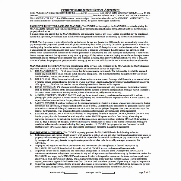 Property Management Contract Template Luxury 9 Property Management Agreement Templates Pdf Word
