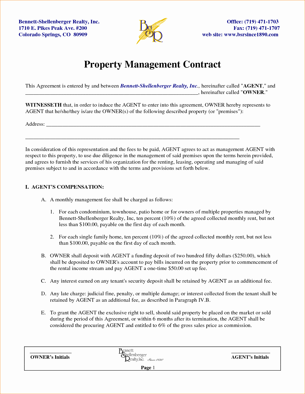 Property Management Contract Template Luxury Property Management Contracts Templates