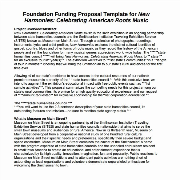 Proposal for Funding Template Beautiful Sample Funding Proposal 8 Documents In Pdf Word