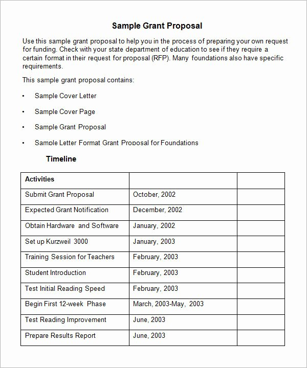 Proposal for Funding Template Elegant Free 17 Sample Grant Proposal Templates In Word Pdf