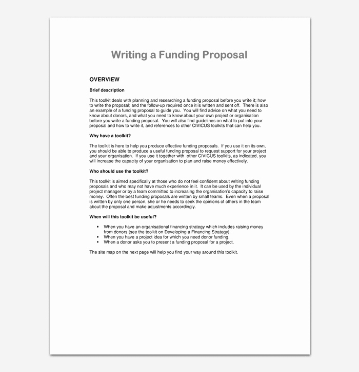 Proposal for Funding Template Elegant Project Proposal Template for Word & Pdf format