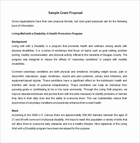 Proposal for Funding Template Inspirational Grant Proposal Template 19 Free Sample Example format