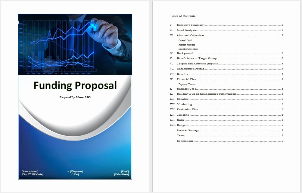 Proposal for Funding Template Lovely Funding Proposal Template Word Templates