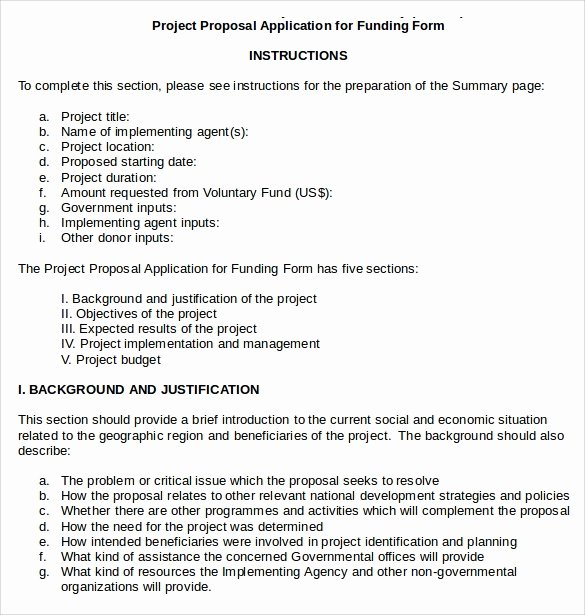 Proposal for Funding Template Lovely Sample Funding Proposal 8 Documents In Pdf Word