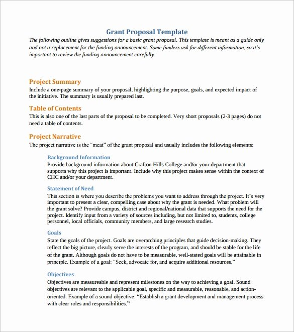 Proposal for Funding Template Unique 11 Sample Grant Proposals Word Pdf Pages
