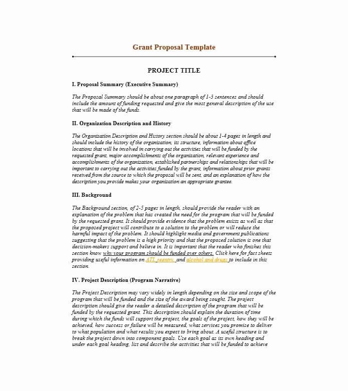 Proposal for Funding Template Unique 40 Grant Proposal Templates [nsf Non Profit Research]