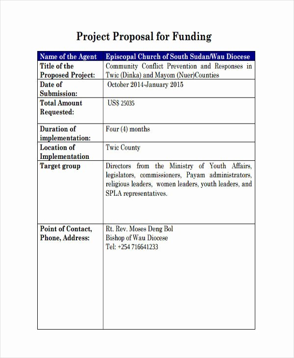Proposal for Funding Template Unique Free 57 Proposal Templates and Examples In Pdf