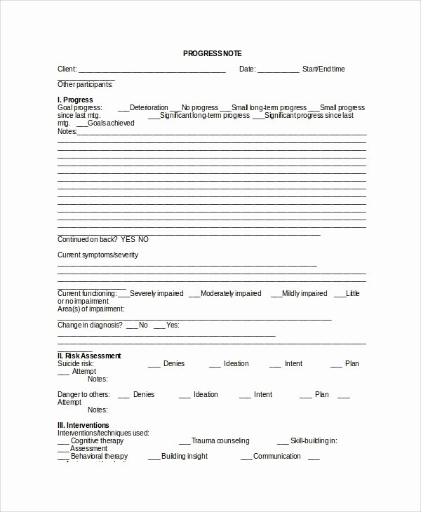 Psychotherapy Progress Note Template Pdf Awesome Sample therapy Note Template 5 Free Documents Download
