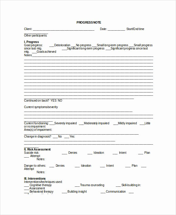 Psychotherapy Progress Note Template Pdf Fresh therapy Notes Template – Emmamcintyrephotography