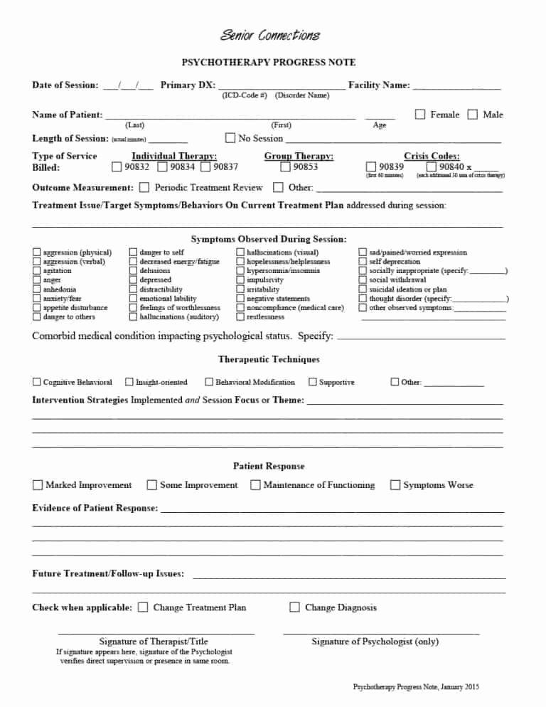 Psychotherapy Progress Note Template Pdf Unique 43 Progress Notes Templates [mental Health Psychotherapy