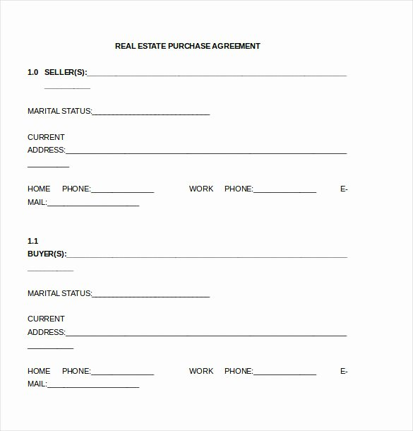 Purchase Agreement Template for House Lovely Purchase Agreement Template 28 Free Word Pdf Document