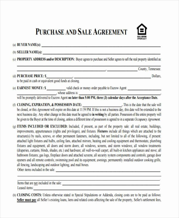 Purchase Agreement Template for House Luxury 10 House Sales Contract Samples & Templates In Pdf