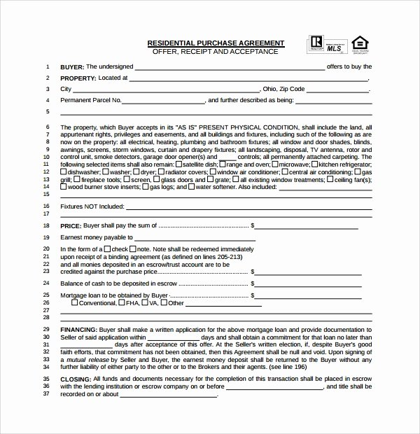 Purchase Agreement Template for House New Free 14 Sample Real Estate Purchase Agreement Templates