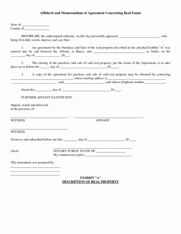 Purchase Agreement Template Free Luxury Agreement to Purchase Real Estate form Free Free
