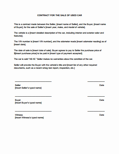 Purchase Agreement Template Word Inspirational Sales Contract Template Free Download Create Edit Fill