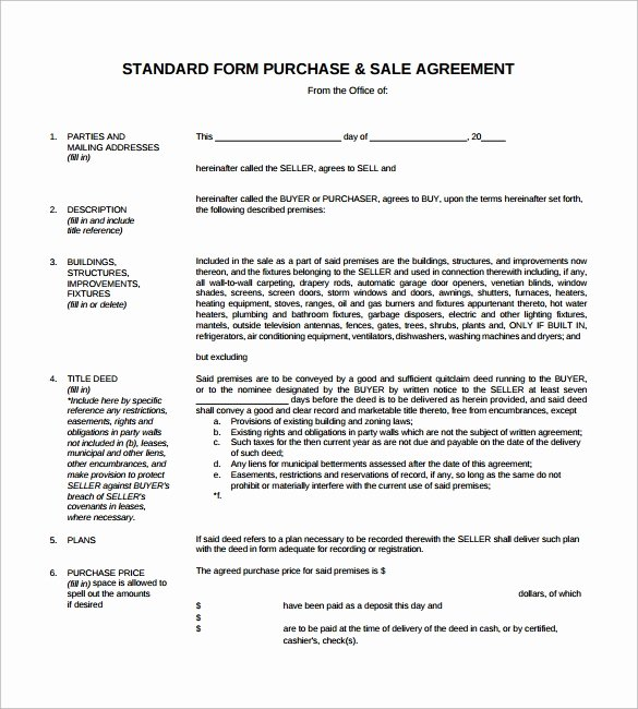 Purchase Agreement Template Word Luxury Sales Agreement 10 Download Free Documents In Word Pdf