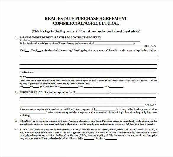 Purchase Agreement Template Word Luxury Sample Home Purchase Agreement 6 Documents In Pdf Word