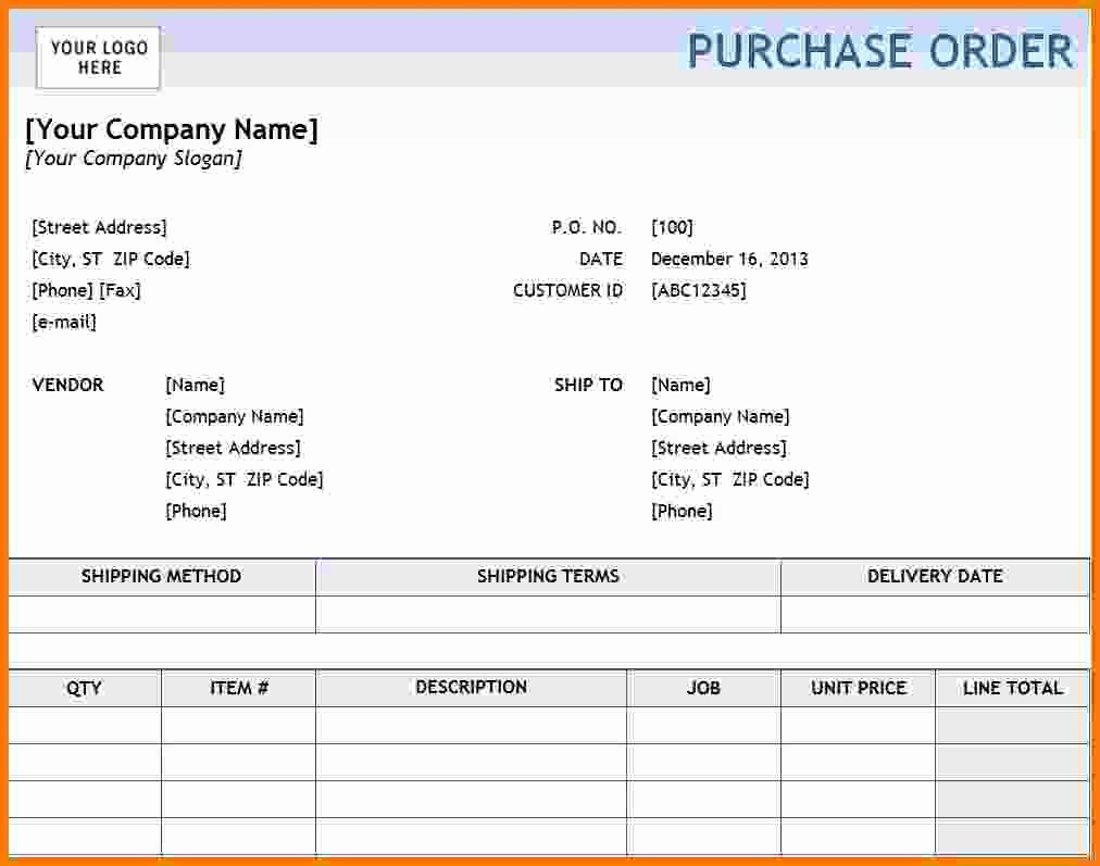 Purchase order Template Microsoft Word Elegant Purchase order Template Pdf format In Word Daily Roabox