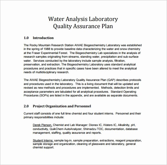 Quality Control Plan Template Construction Best Of 16 Quality assurance Plan Templates Word Pdf Google
