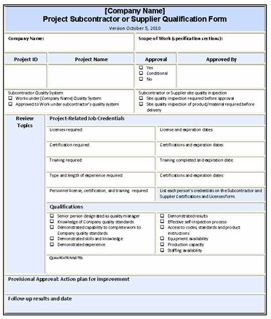 Quality Control Plan Template Construction Lovely General Contractor Quality Control Plans Qualifying