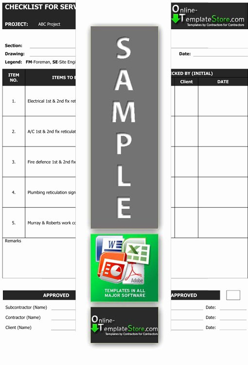 Quality Control Plan Template Construction New Quality Control Construction Template Store