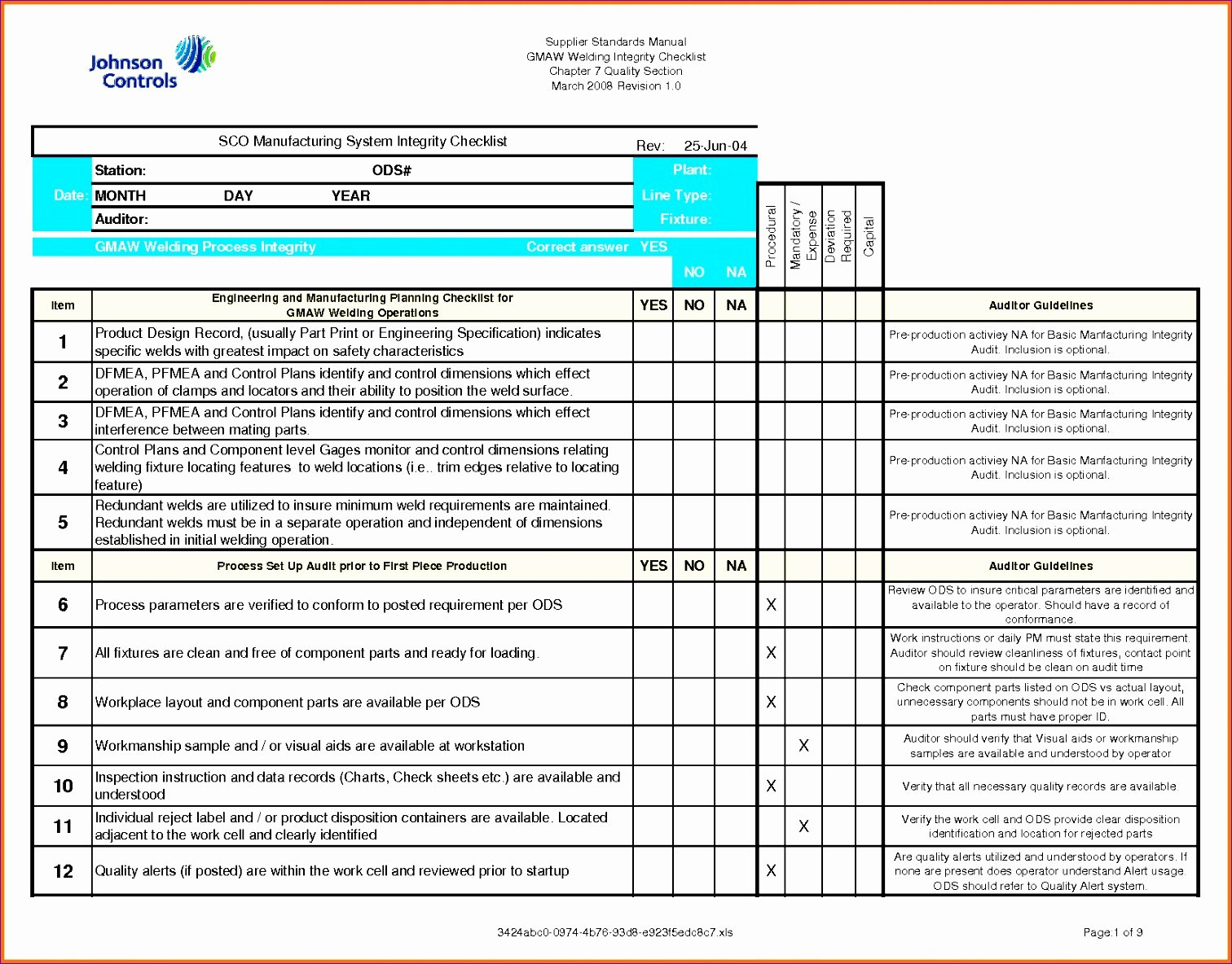 Quality Control Plan Template Construction Unique 11 Quality Checklist Template Excel Exceltemplates