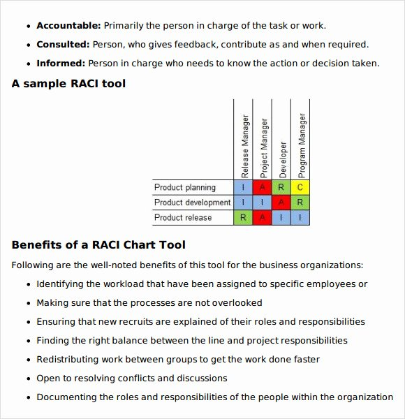 Raci Chart Template Excel Elegant Raci Template Excel
