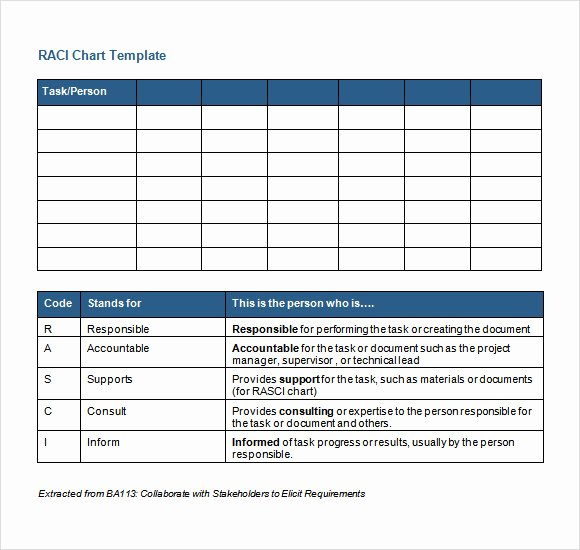 Raci Chart Template Excel Lovely Sample Raci Chart 6 Free Documents In Pdf Word Excel