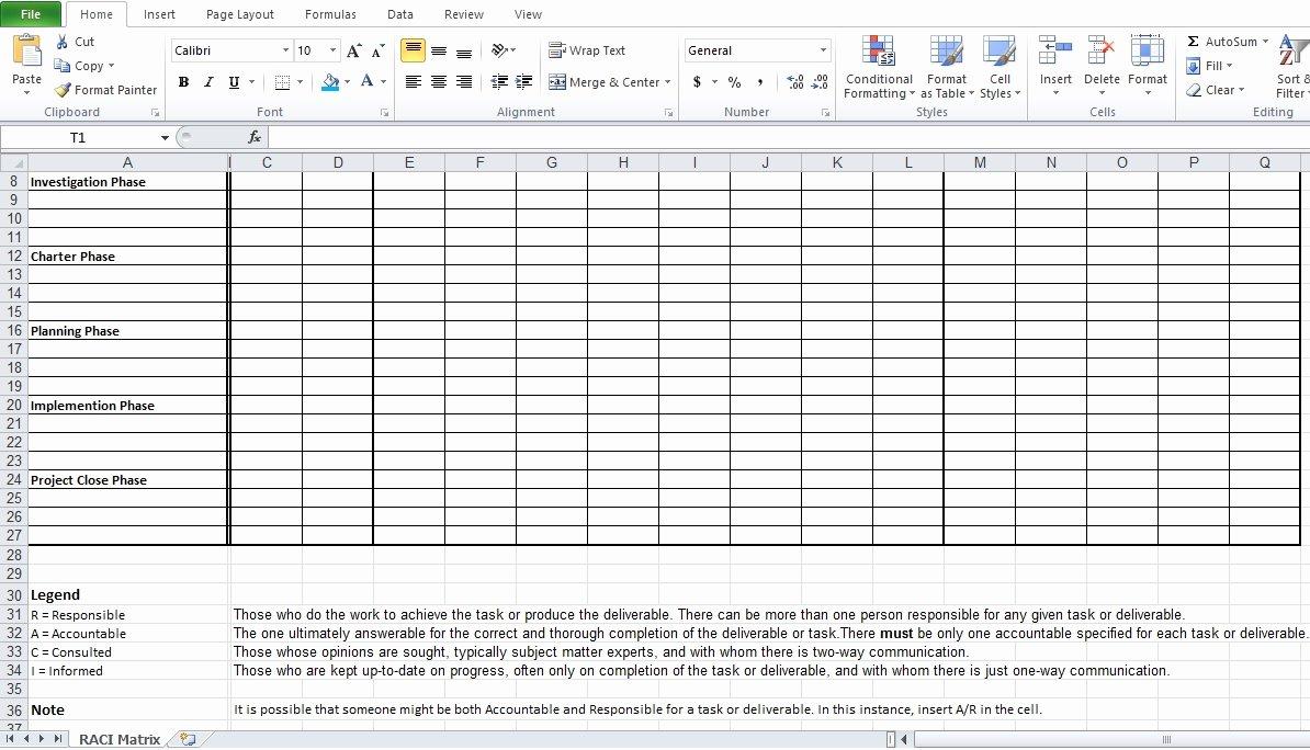 Raci Matrix Template Excel Elegant Raci Matrix Excel Template Free Excel Tmp