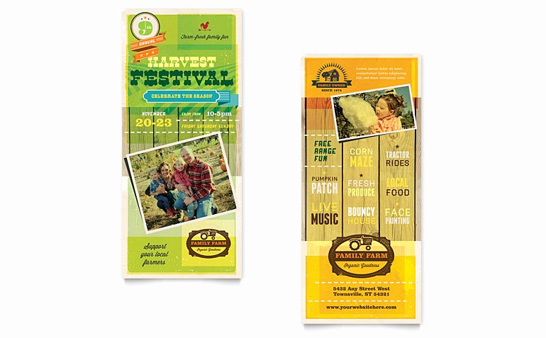 Rack Card Template Word Beautiful Harvest Festival Rack Card Template Word & Publisher
